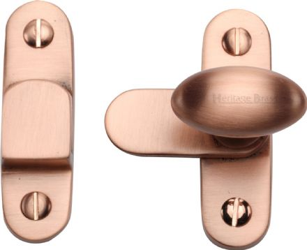 M Marcus Heritage Brass  V1970-SRG Cabinet Hook and Plate Satin Rose Gold